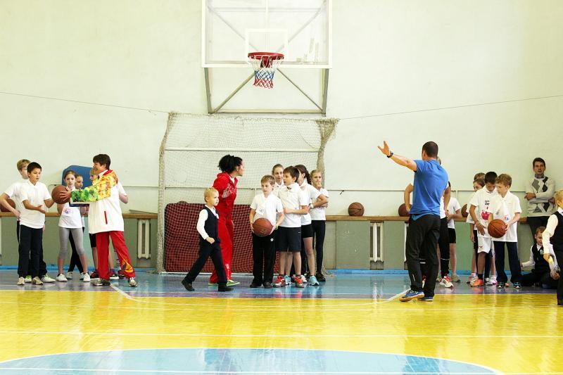 Урок с олимпийцами в честь турнира Евгения Подгорного
