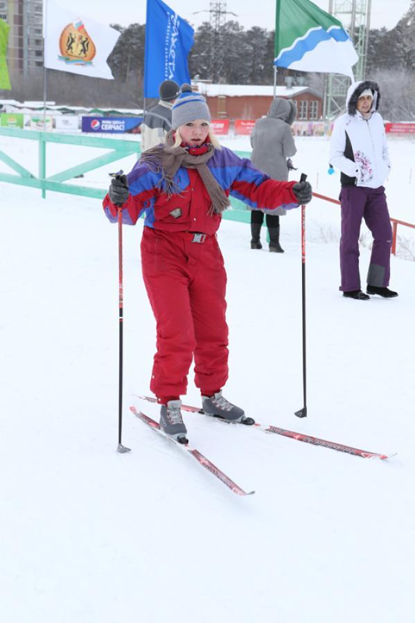 Первая городская лыжня. Открытие