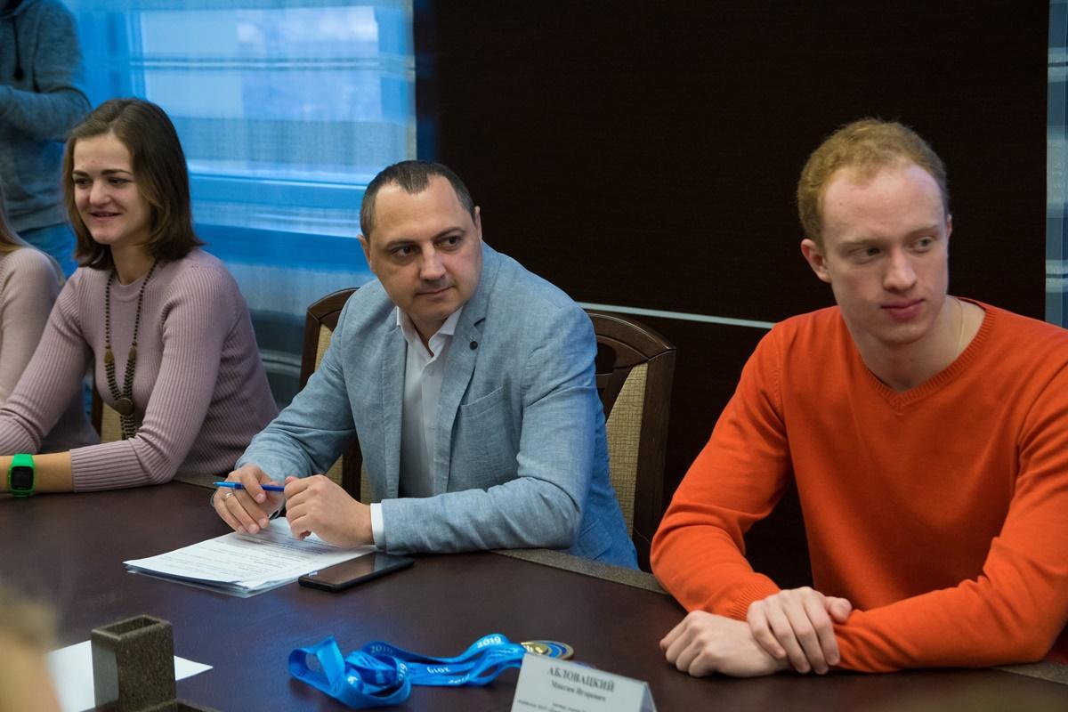 Встреча мэра с победителями и призерами чемпионата России по плаванию