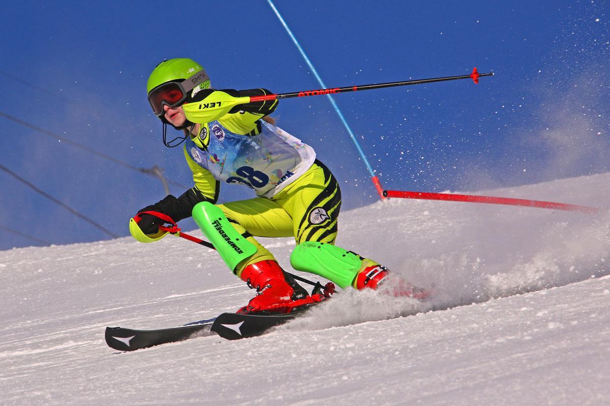 Горные лыжи. Слалом-гигант.