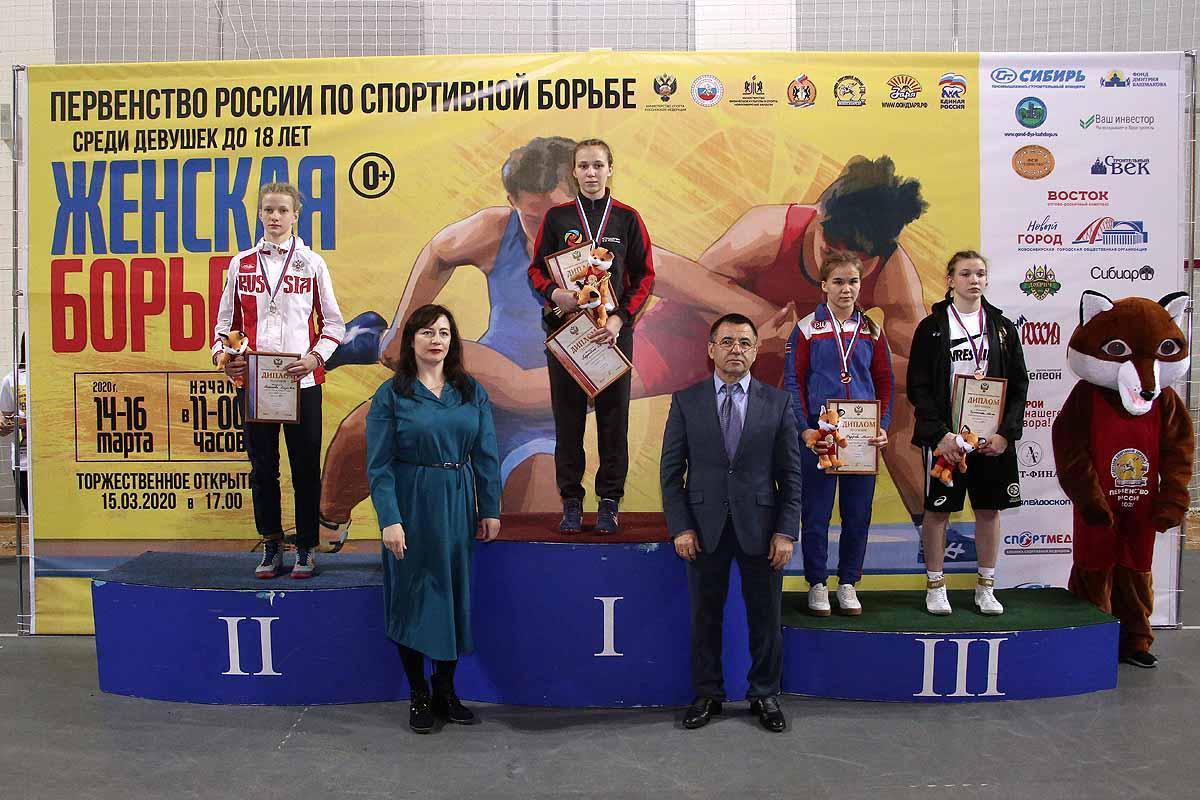 Первенство России по спортивной борьбе. Девушки