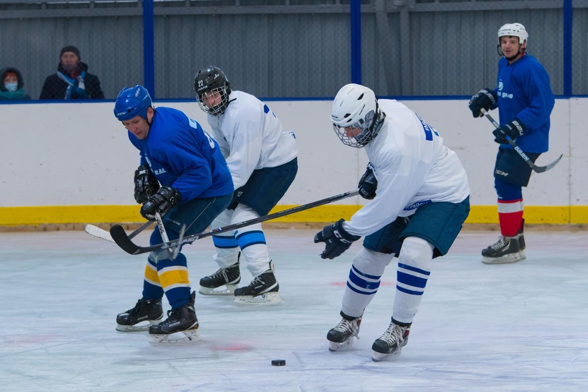 Товарищеский матч по хоккею в честь дня добровольца России.