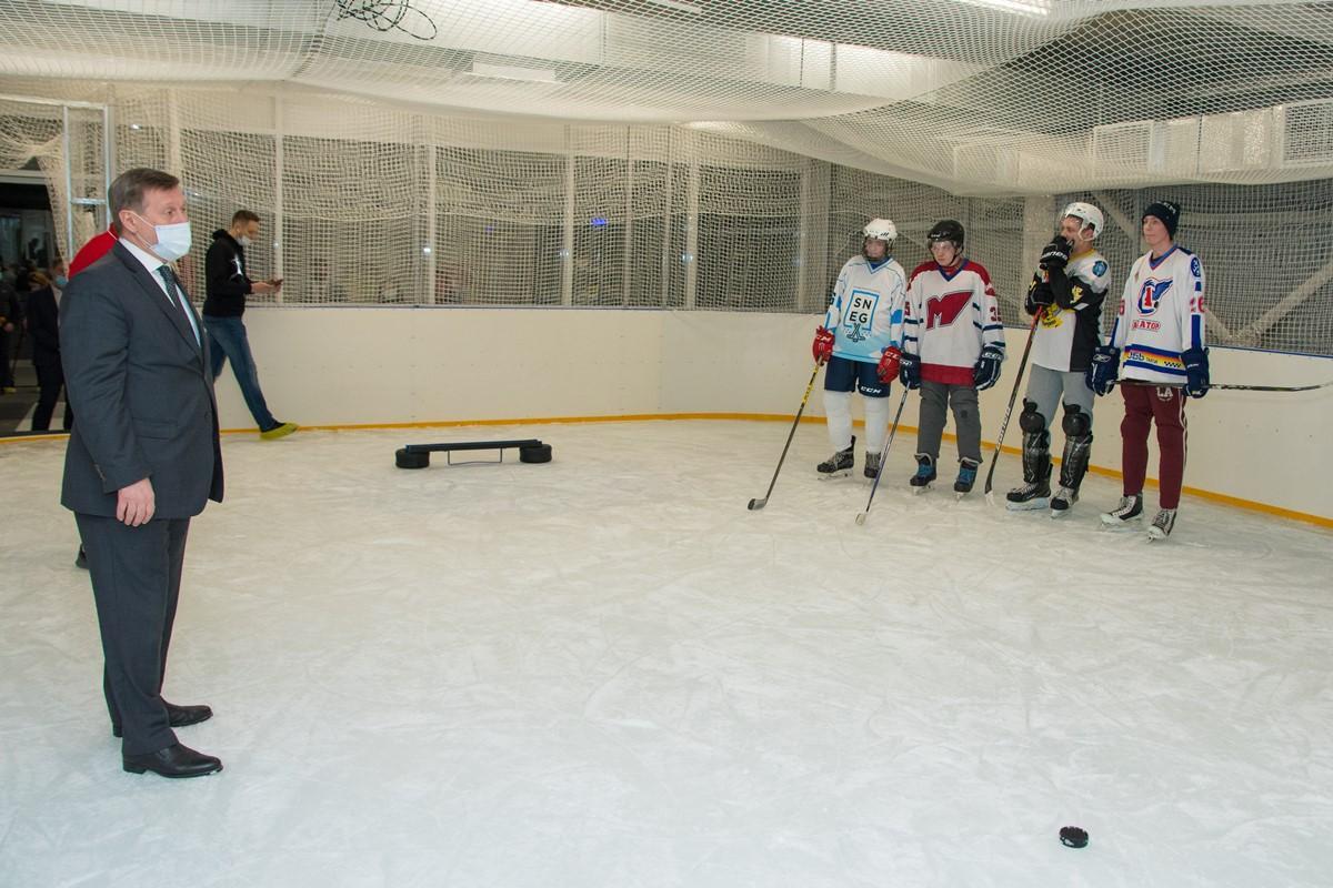Открытие центра хоккейного мастерства