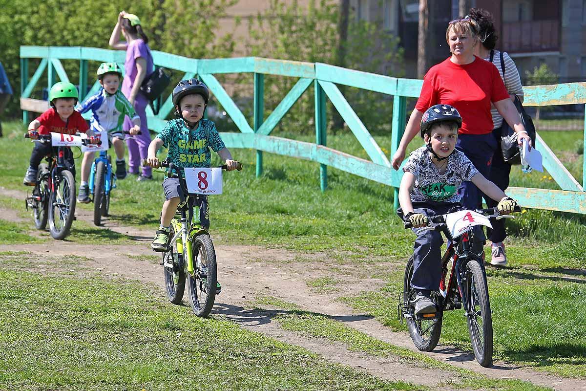 Первенство Новосибирска по велосипедному спорту.