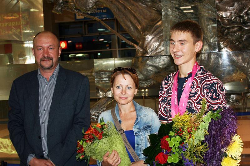 Иван с родителями: Татьяной Федоровной и Владимиром Анатольевичем.